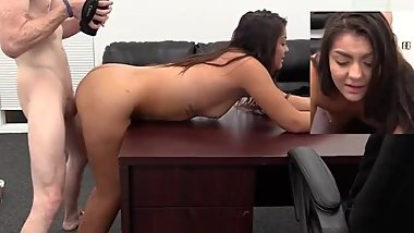 Backroom casting couch hot girl