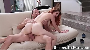 Teen gets stepdads cum