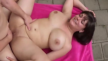 Busty MILF Takes Hot Creampie While Nobody Home