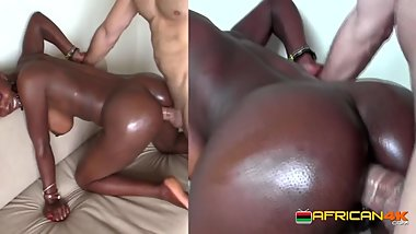 Small African ass pounded by European