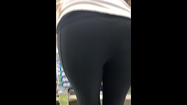 Spandex ass one Fat one tight