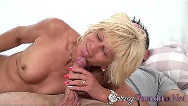 Horny old lady plowed