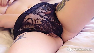 Yanks Kitty du Jour - Black Lace and Big Boobs
