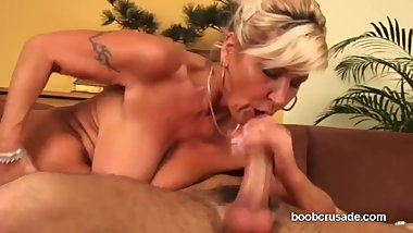 Hairy Big Breast Cougar Fucked