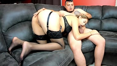 Lexi Aaane gives a sensual blowjob