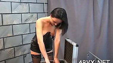 Neat amateur honeys hard sex in bondage extraordinary show