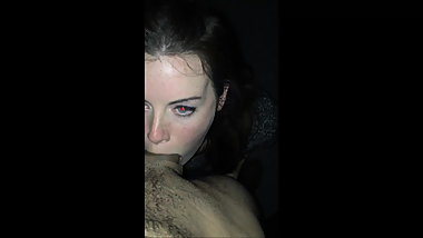 allegedly Kaya Scodelario deep throating a cock, POV clip