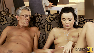 DADDY4K. Bad daddy fucks sons girlfriend right behind