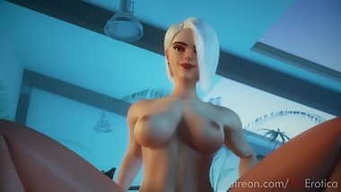 POV ASHE SEX - OVERWATCH HENTAI (W/SOUND HD)