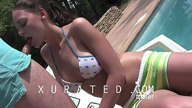 HD: Lotte at Cote d'Azur, the French Rivièra – piss facial cumdrinking