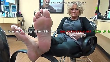 my hairdresser friends mature sexy soles