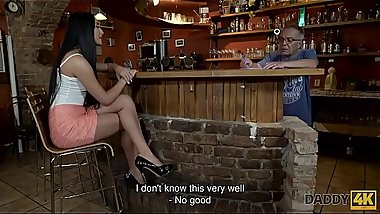DADDY4K. Slutty chick really wants to try hard cock of paramour&rsquo_s dad